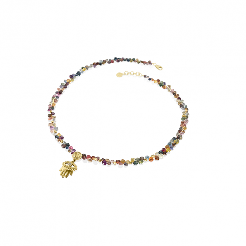 Beaded Hand of Fatima Necklace