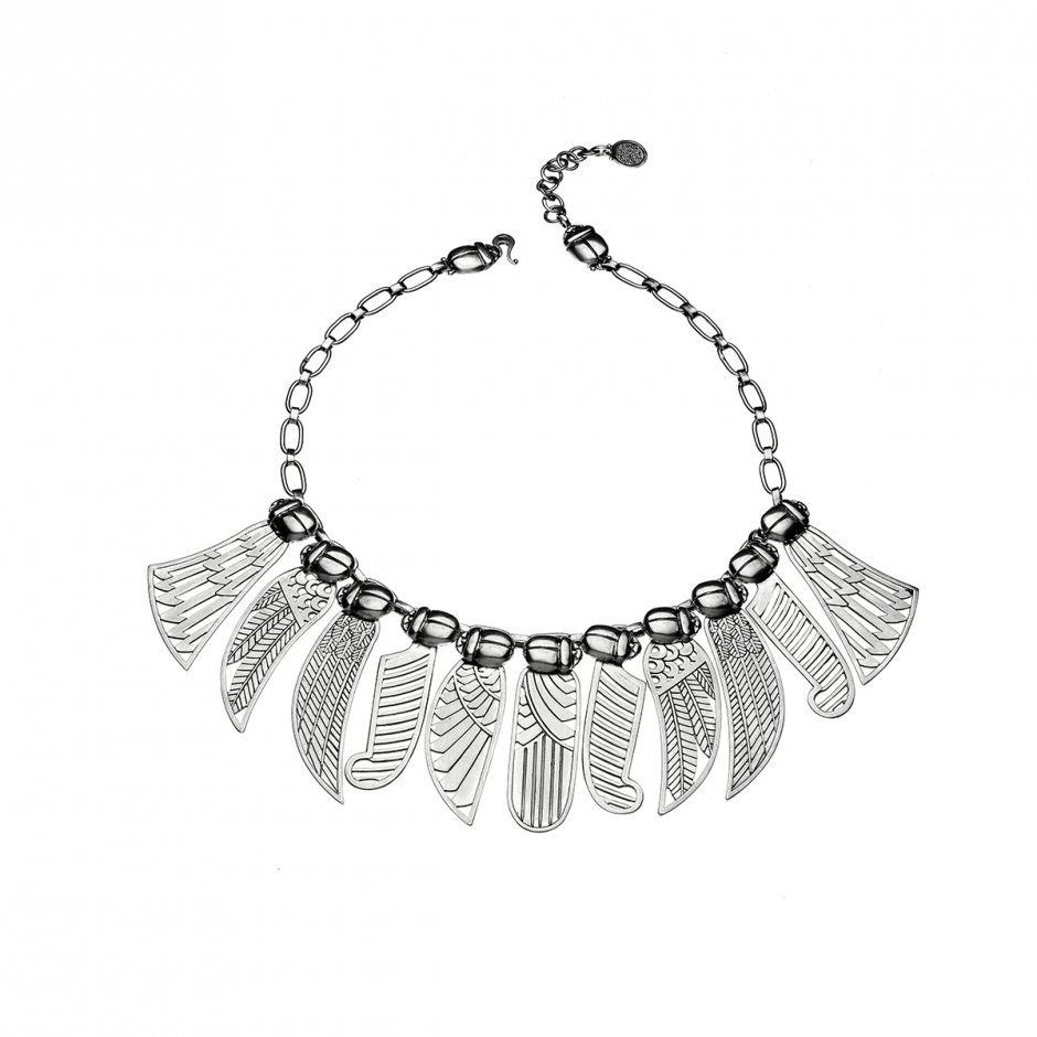 Silver Winged Necklace