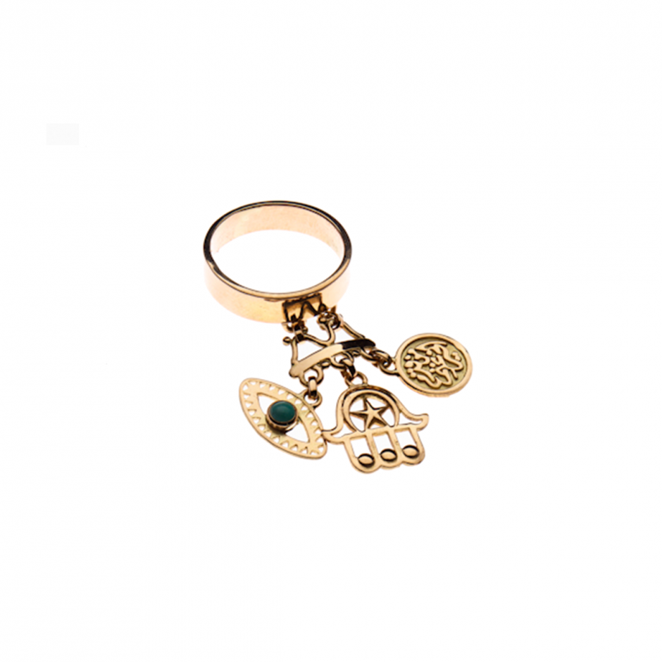 Rumuz Charms Gold Ring