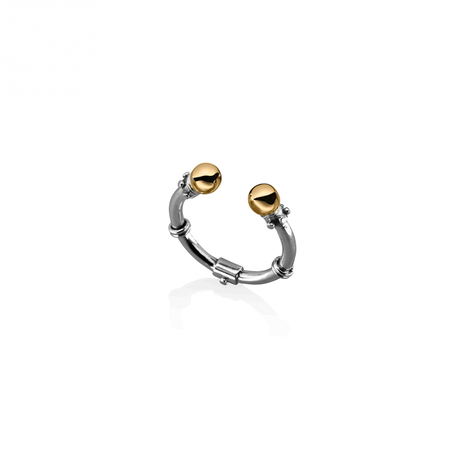 Stackable Silver Gold Ring