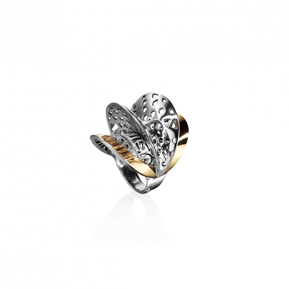 Fulani Silver Gold Ring