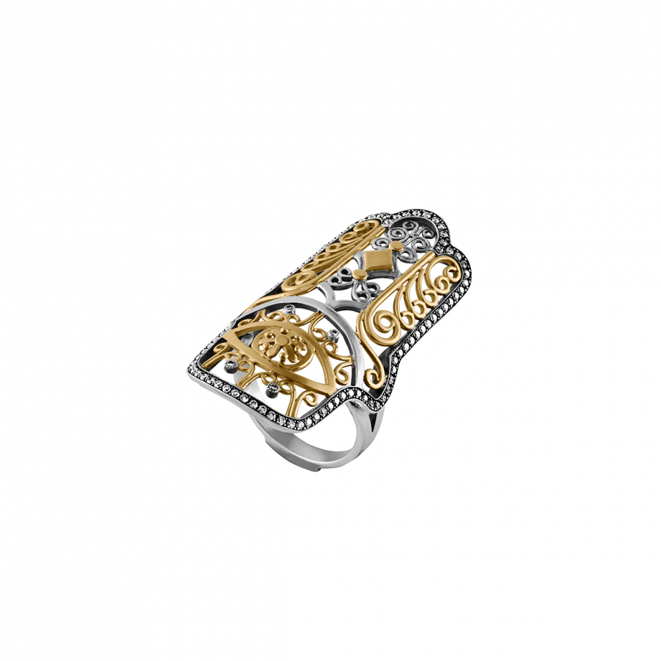 The Diamond Hand of Fatima Ring
