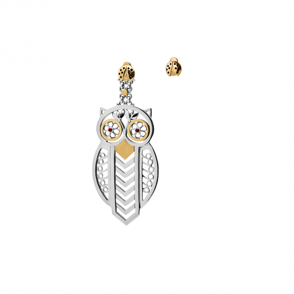 The Owl & the Ladybird Earrings