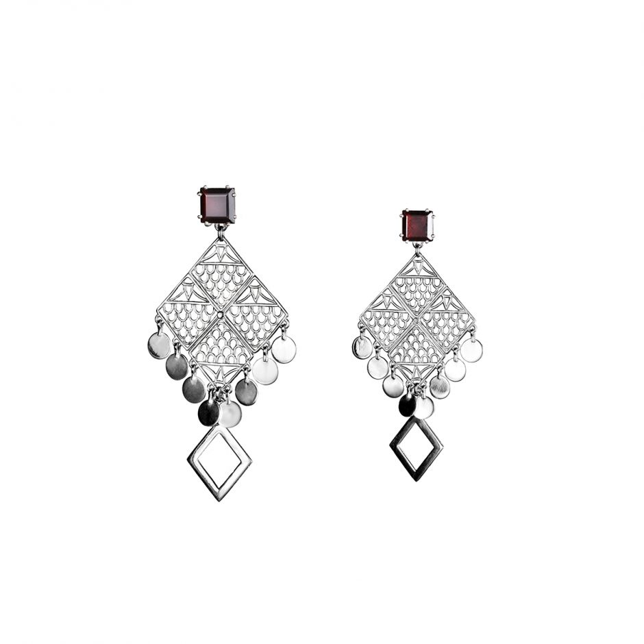 Four-Corner Earrings