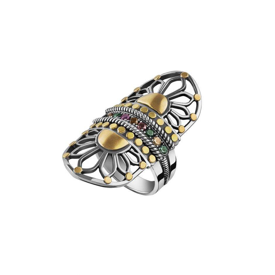 Tribal Stone Ring