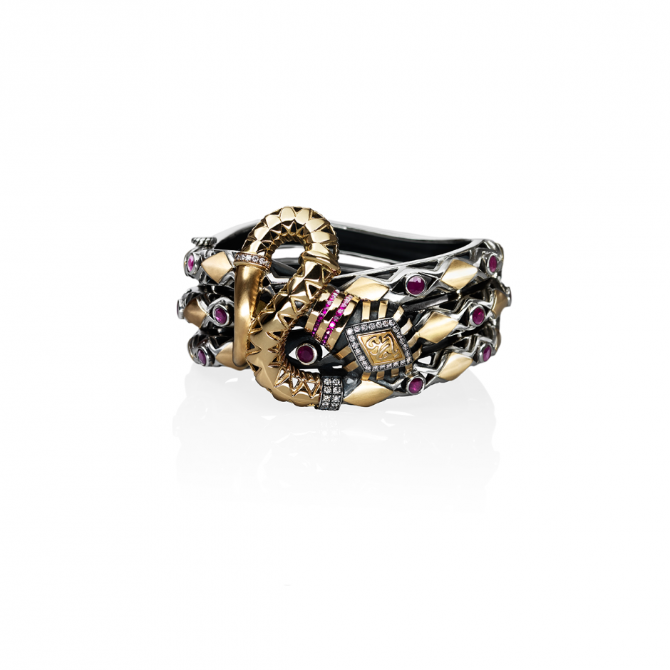 Intertwined Snake Bangle