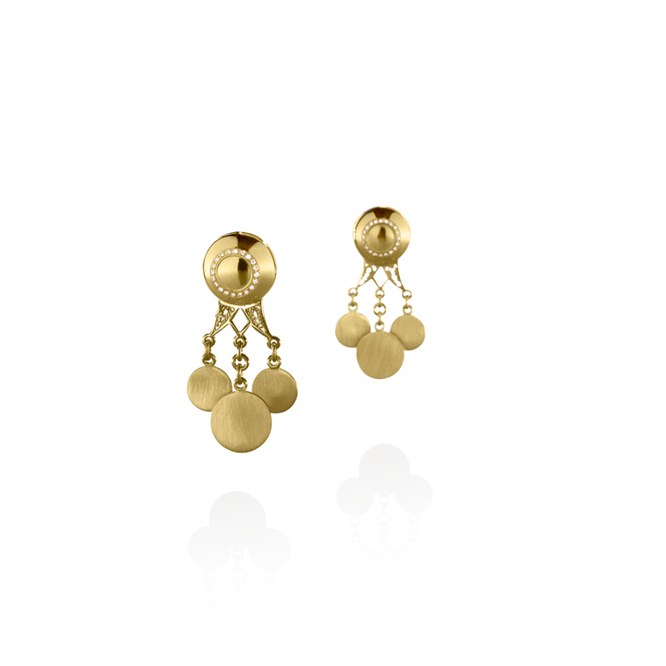 Diamond Coins Earrings